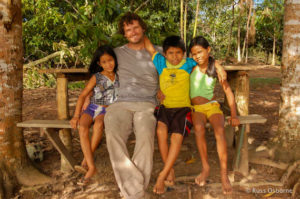 Sitting with Brazilian children