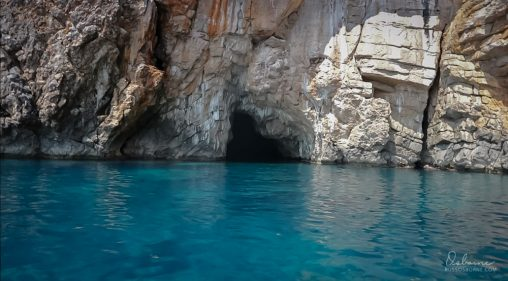 Entrance to the Blue Cave