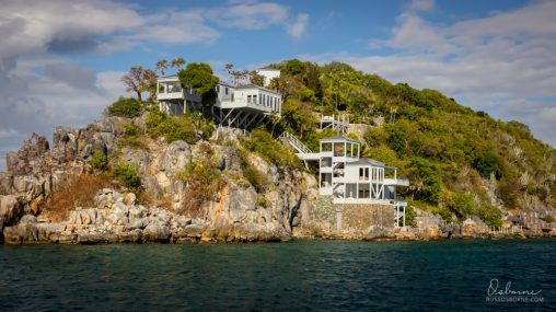 Tiered cliffside home in BVI