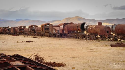 Train Cemetary in the Uyuni desert