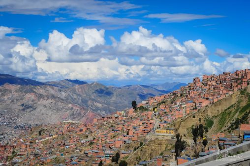 La Paz, the capital of Bolivia